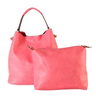 Rimen & Co. Simpilicity Design Multicolor Faux Leather Large Causal Hobo Handbag