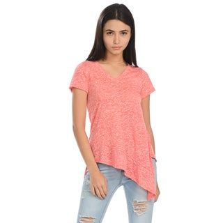 Women's Multi-colored V-neck Tail Tee