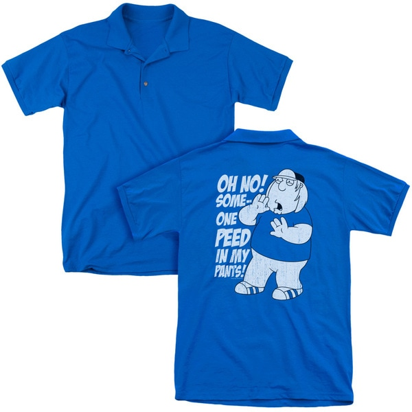Family Guy/In My Pants (Back Print) Mens Regular Fit Polo in Royal