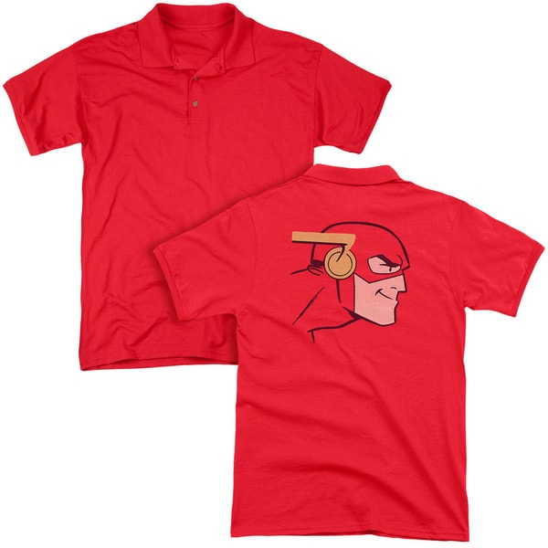 JLA/Cooke Head (Back Print) Mens Regular Fit Polo in Red