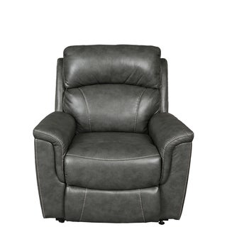 Porter Estelle Charcoal Grey Breathable Alternative Leather Power Reclining Lift Assist Chair