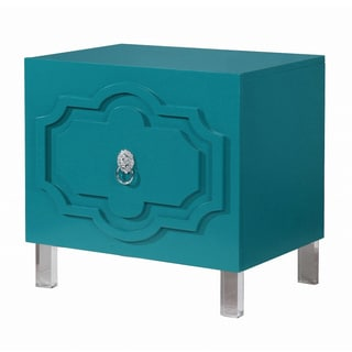 Iconic Home Fez Lacquer Finish Lucite Leg Side Table