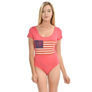 American Flag Body Suit With Buttons