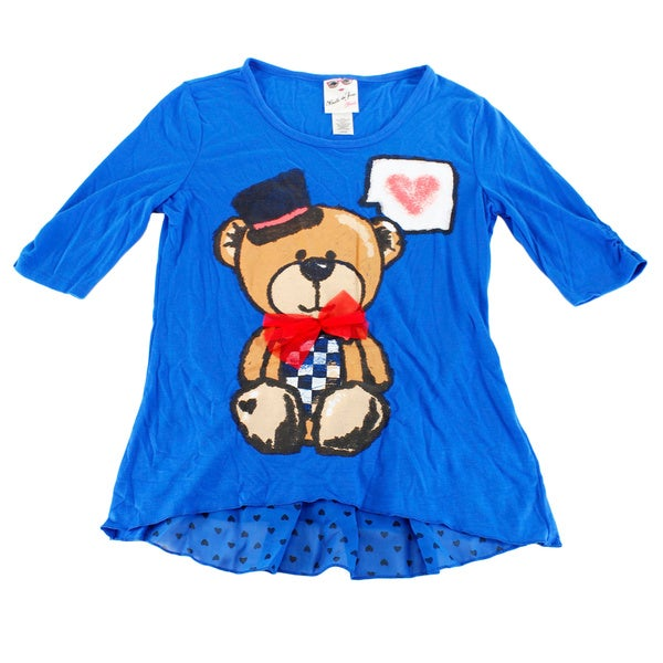 Belle Du Tour Blue Size L US Girls' Top