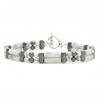 Healing Stones for You Howlite Double Power Bracelet 'Learn Patience'