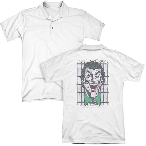 DC/Criminal (Back Print) Mens Regular Fit Polo in White