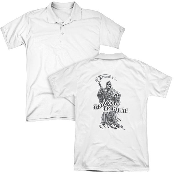 Sons Of Anarchy/Redwood Original (Back Print) Mens Regular Fit Polo in White