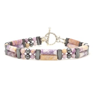 Healing Stones for You Lepidolite Double Power Bracelet 'Addiction Release'