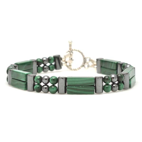 Healing Stones for You Malachite Double Power Bracelet 'Emotional Healing'