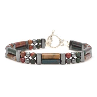 Healing Stones for You Bloodstone Double Power Bracelet 'Master Healer'