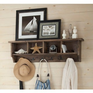 Pomona Metal and Reclaimed Wood 48-inch Entryway Coat Hook with Storage Cubbies