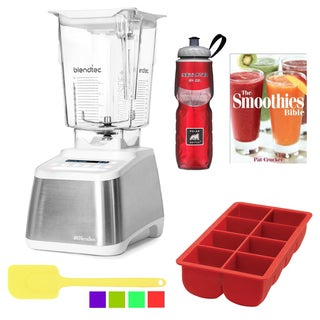 Blendtec WildSide Designer 725 Blender Accessory Bundle (Stainless Steel on White)