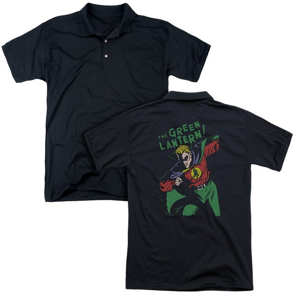 DC/First (Back Print) Mens Regular Fit Polo in Black