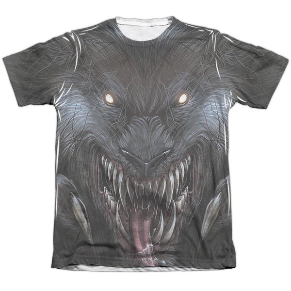 Zenescope/Werewolf (Front/Back Print) Adult 65/35 Poly/Cotton Short Sleeve Tee in White