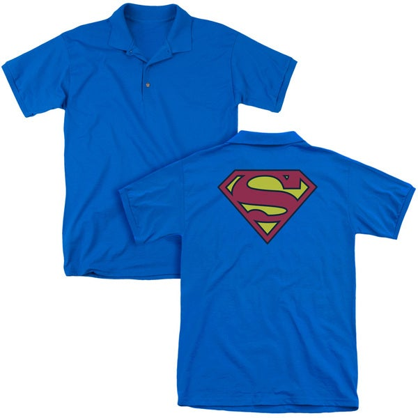 Superman/Classic Logo (Back Print) Mens Regular Fit Polo in Royal