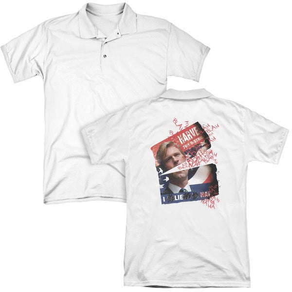Dark Knight/Defiled Campaign Poster (Back Print) Mens Regular Fit Polo in White