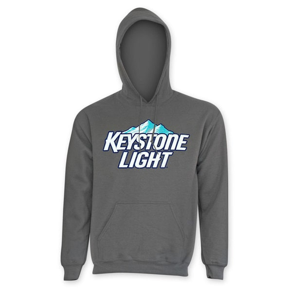Keystone Light Men's Classic Grey Polyester Hoodie