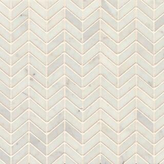 White Carrara White Honed Stone Tile (Pack of 10 Sheets)
