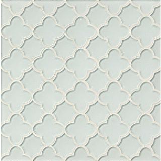 Flora Mosaic All-white Linen Glass Tile (Box of 11 Sheets)