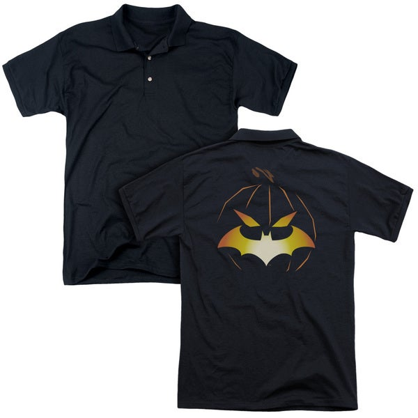 Batman/Jack O'Bat (Back Print) Mens Regular Fit Polo in Black
