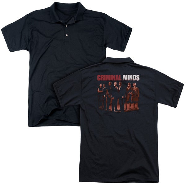 Criminal Minds/The Crew (Back Print) Mens Regular Fit Polo in Black