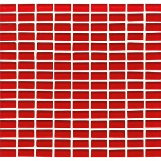 Bedrosians Mini Brick Pattern Multicolor Glass 11-inch x 11.5-inch Buoy Tiles (Pack of 10 Sheets)