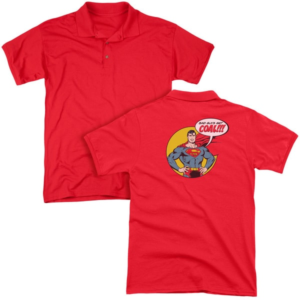 DC/Coal (Back Print) Mens Regular Fit Polo in Red