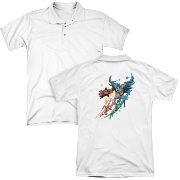 JLA/Allegiance (Back Print) Mens Regular Fit Polo in White