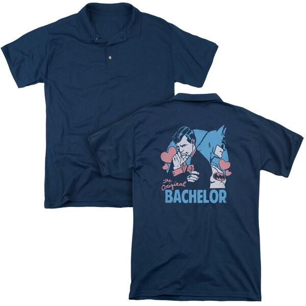 DC/Bachelor (Back Print) Mens Regular Fit Polo in Navy