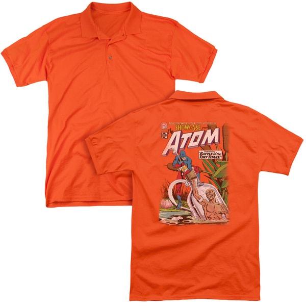 JLA/Showcase #34 Cover (Back Print) Mens Regular Fit Polo in Orange
