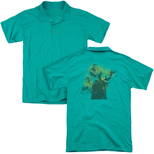 DCO/Spray Sketch League (Back Print) Mens Regular Fit Polo in Kelly Green - Lg - Kelly Green - Lg