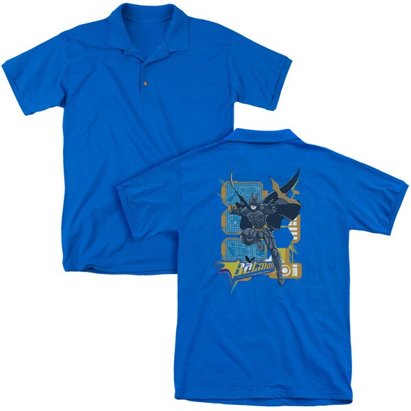 Dark Knight/Batarang Tech (Back Print) Mens Regular Fit Polo in Royal