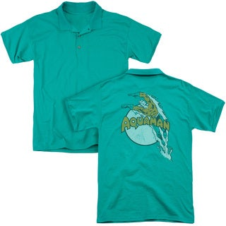 DC/Splash (Back Print) Mens Regular Fit Polo in Kelly Green