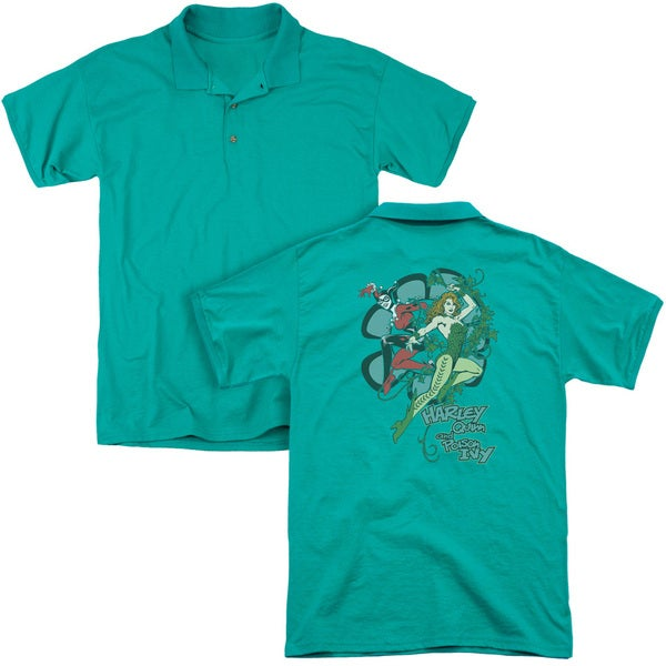 DC/Harley and Ivy (Back Print) Mens Regular Fit Polo in Kelly Green