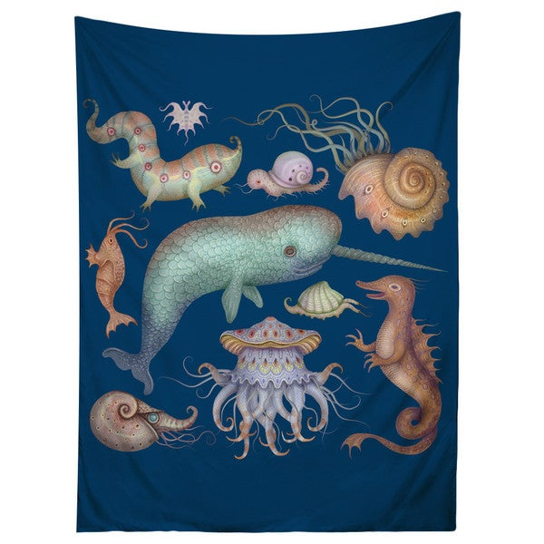 Sharp Shirter Sea Creatures/ Ocean/ Sea Life Tapestry 19144924