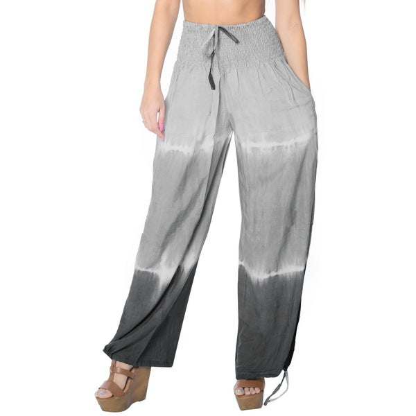 La Leela Women Soft Rayon Lightweight Sleepwear Casual Lounge Pajama Pant Grey
