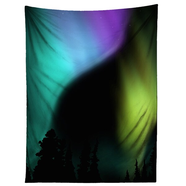 Sharp Shirter Aurora Borealis Tapestry