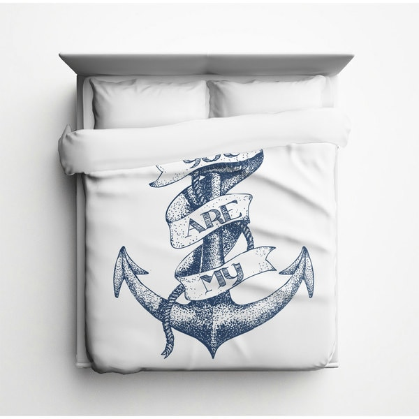 Sharp Shirter You Are My Anchor Duvet Cover