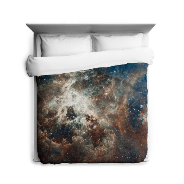 Sharp Shirter Turbulent Tarantula Nebula Duvet Cover