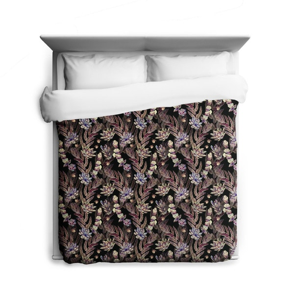 Sharp Shirter Thorns/ Floral Duvet Cover/ Printed in Usa