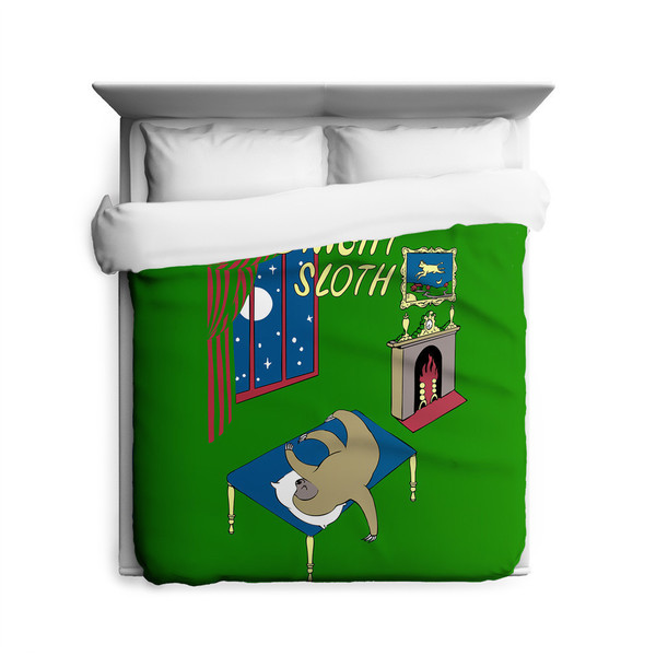 Sharp Shirter Goodnight Sloth Duvet Cover