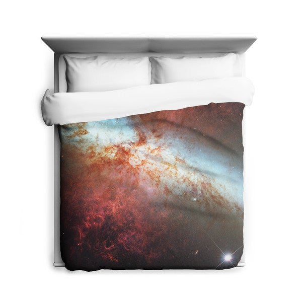 Sharp Shirter Supernova in Nearby Galaxy/ Galaxy Duvet Cover