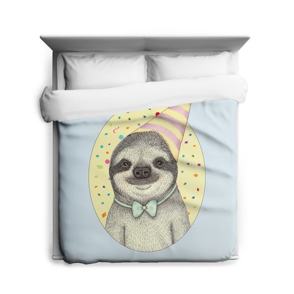 Sharp Shirter Party Sloth/ Sloth/ Illustration Duvet Cover