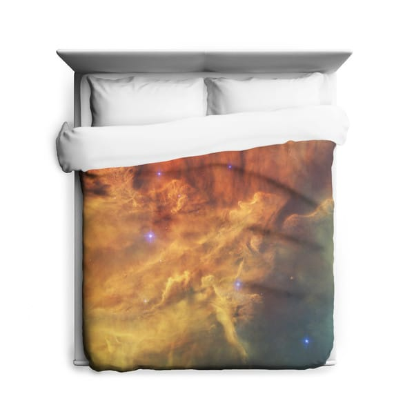 Sharp Shirter Lagoon Nebula/ Space/ Galaxy Duvet Cover