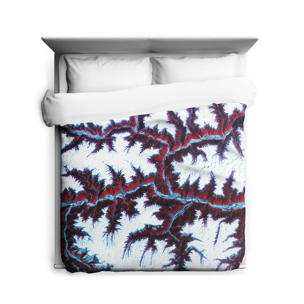 Sharp Shirter Himalayan Mountains Duvet Cover