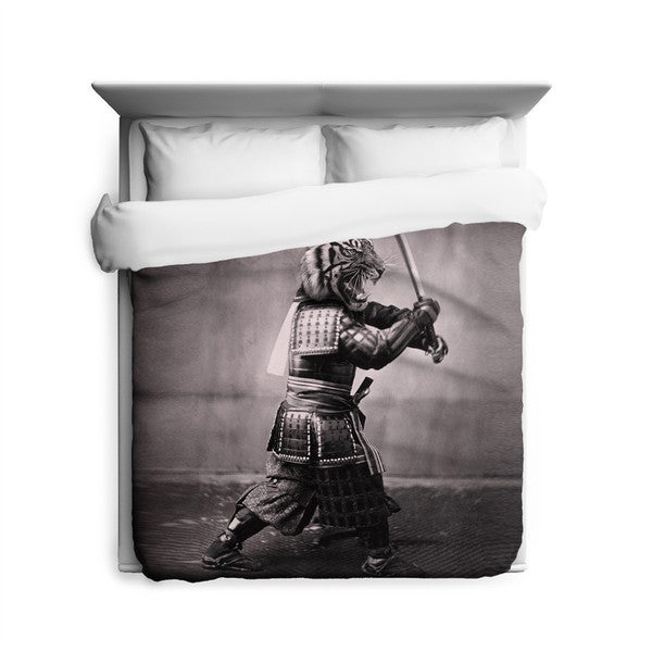 Sharp Shirter Samurai Tiger Duvet Cover