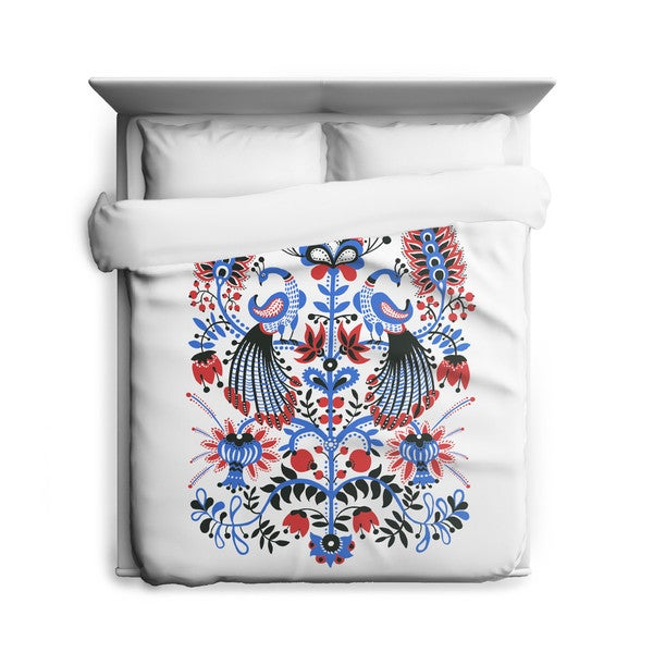 Sharp Shirter Peacocks Duvet Cover