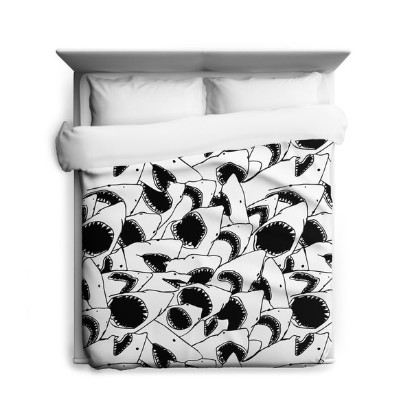 Sharp Shirter Forever Jaws Duvet Cover