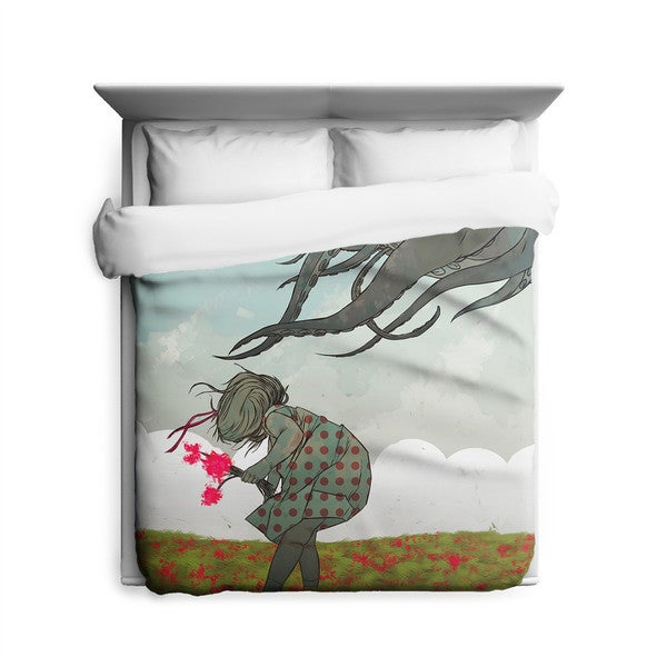 Sharp Shirter Flowers Duvet Cover