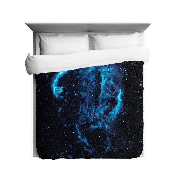 Sharp Shirter Cygnus Loop Nebula/ Outer Space Duvet Cover